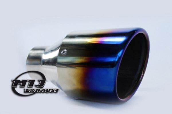 "4"" burnt tip effect titanium exhaust tail pipe"