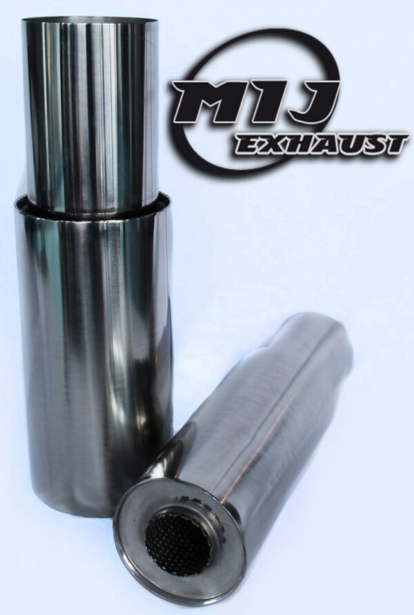 exhaust muffler back box japstyle tip performance rear can