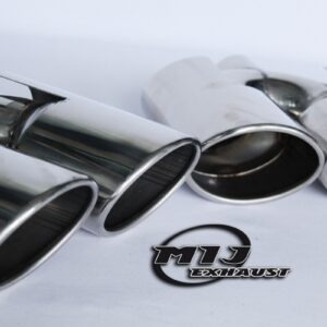 twin exhaust tips tail pipes stainless steel