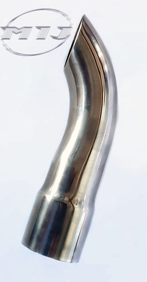 curl down tip mij exhaust stainless steel